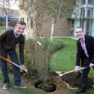 Tree planting in memory of inspirational fundraiser