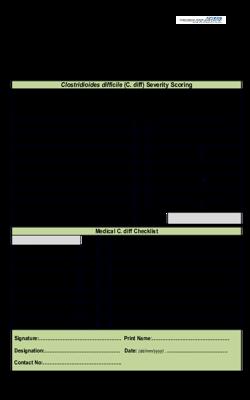 Clostridioides difficile  C. diff  Severity Scoring