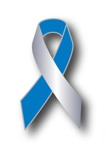 NNUH Cancer ribbon badge