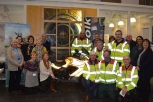 presentation by NNUH Friends to SERV Norfolk blood bikes