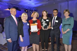 Radiology team winning Health Education East award